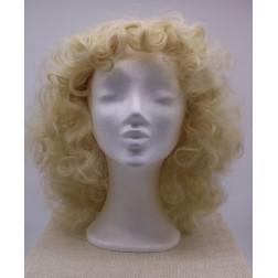 Paruka dámská blond kudrnatá, s ofinou