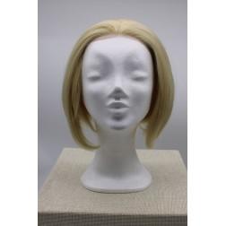 Paruka blond bob, čelo ručně poutkované