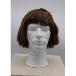 Paruka z lidských vlasů, stř.hnědá, ruční výroba