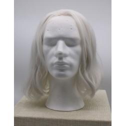 Paruka bílá mikádo, čelo ručně poutkované