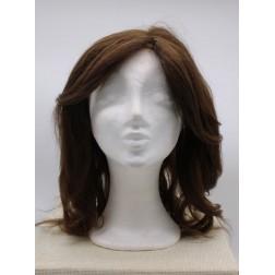 Paruka z lidských vlasů, hnědá, ruční výroba