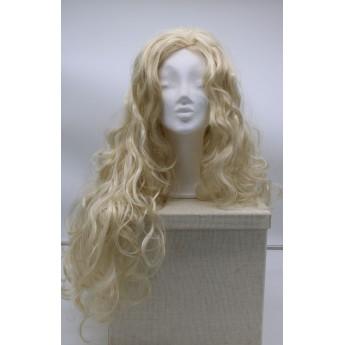 Paruka blond extra dlouhá, vlnitá