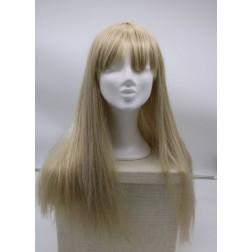 Paruka studená blond dlouhá s ofinou