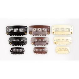 Klip-in hnědý 2,3cm, 2,8cm  a 3,2cm
