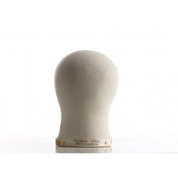 Hlava česací paruková, plátno + korek, vel.50-61cm