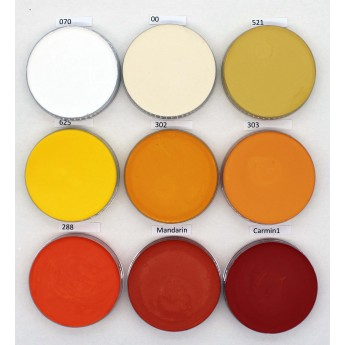 Supracolor 55ml Kryolan - bílá, žlutá, oranžová