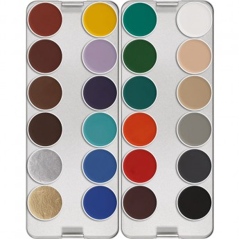 Aquacolor paleta 24 barev Kryolan