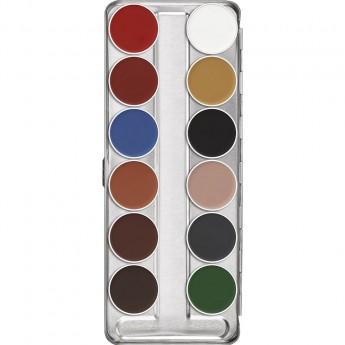 Aquacolor paleta 12 barev Kryolan