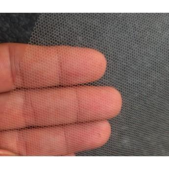Čelový jemný tyl tužený , nylon, šířka cm